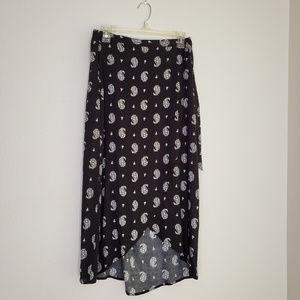 Xhilaration Black Wrap Skirt